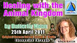 Healing with the Animal Kingdom by Butterfly Moon Channeled Message with Natalie Glasson from Sacred School of OmNa